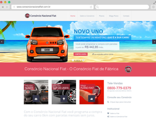 Consórcio Nacional Fiat – Redesign do Site
