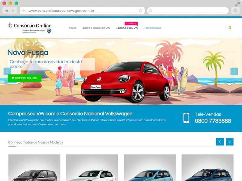 Novo site Consórcio Auto Volkswagen